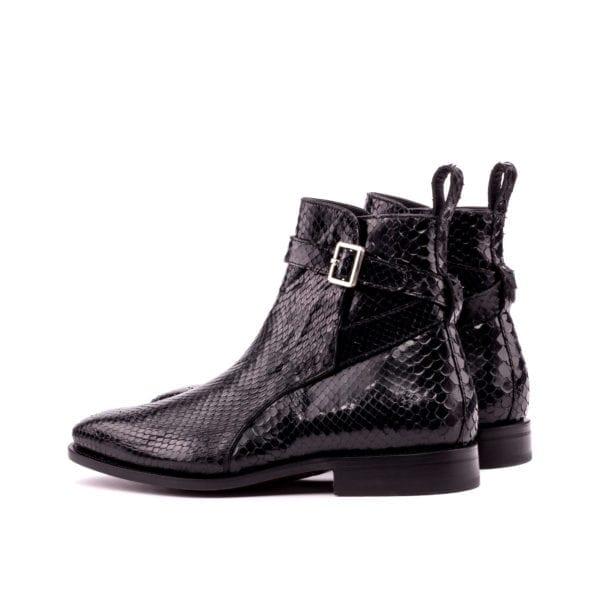 black Python Jodhpur buckle Boots ADDLER