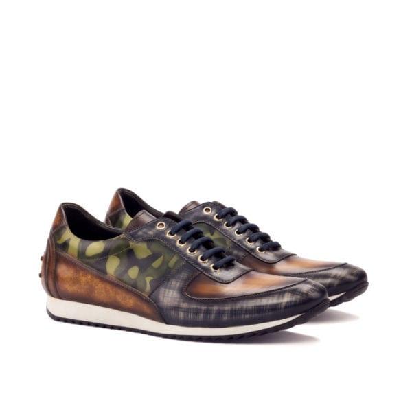 stylish Patina leather trainers EDWIN