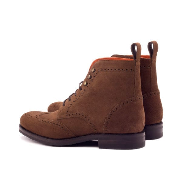 luxury suede Brogue Boot with Dainite rubber soles SNUFFLE