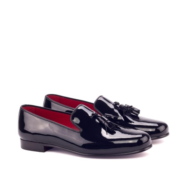 men's tuxedo slippers in black patent with tassels TUXO by Civardi
