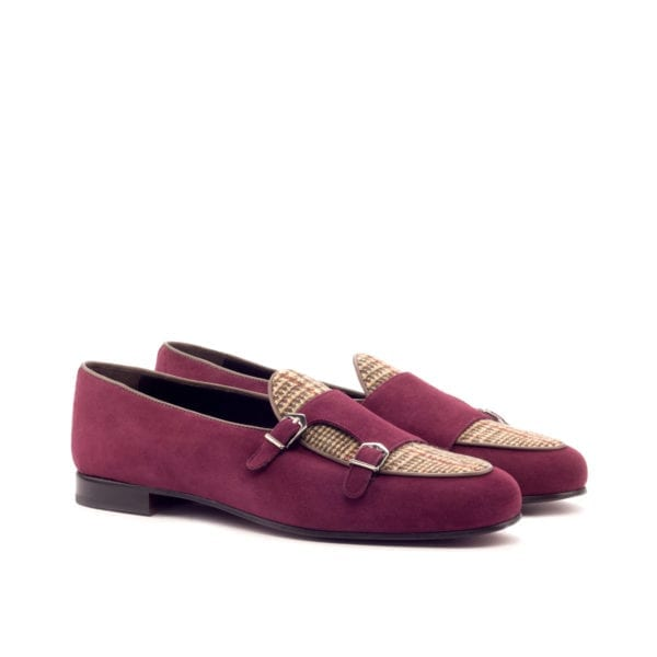 suede and tweed Monk Slippers ENSOR by Civardi