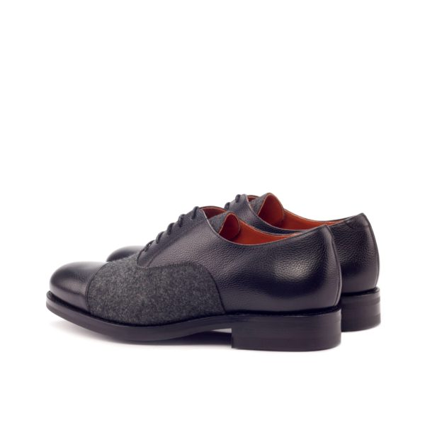 rear heel detail leather and flannel Oxford Shoes WILKINS