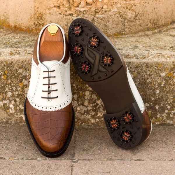 order or customize brown and white Saddle Golf Shoes LOWRY