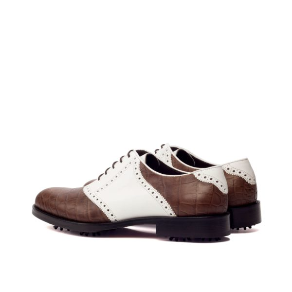 white trim detail on rear of Saddle Golf Shoes LOWRY