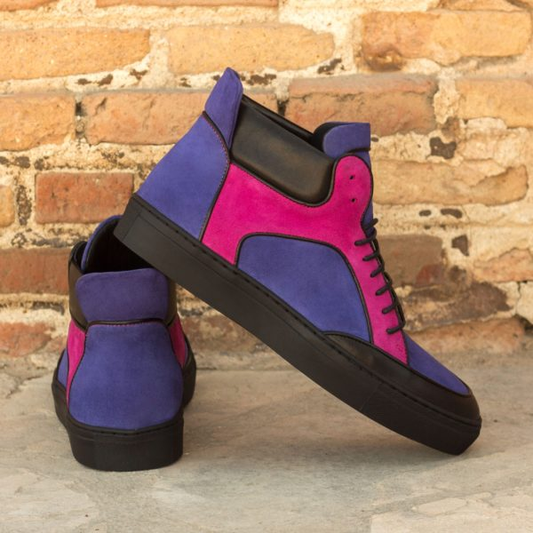 pink purple suede color block Hi-Tops RODMAN