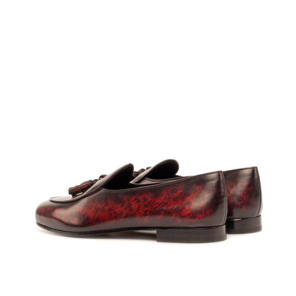 burgundy patina leather tassels Belgian Slipper TIENEN