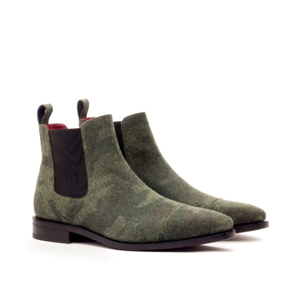 camouflage patterned flannel Chelsea Boots BARACKS by Civardi