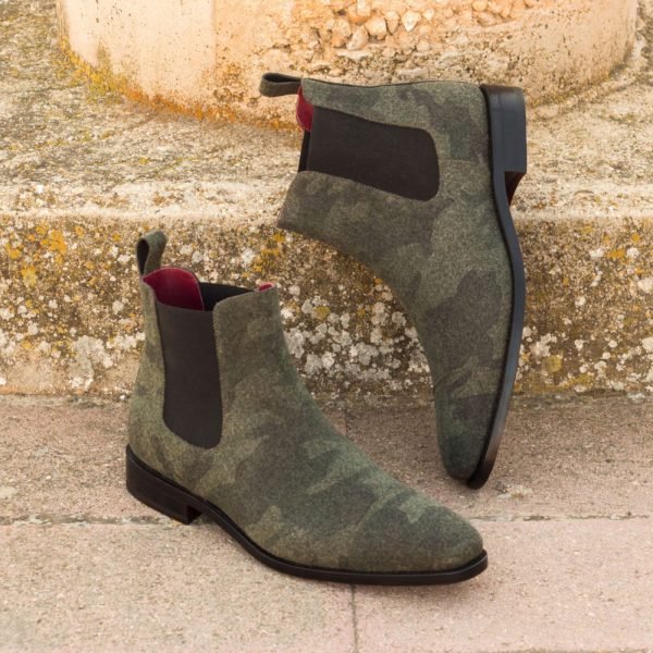 camo army patterned Chelsea Boots BARACKS