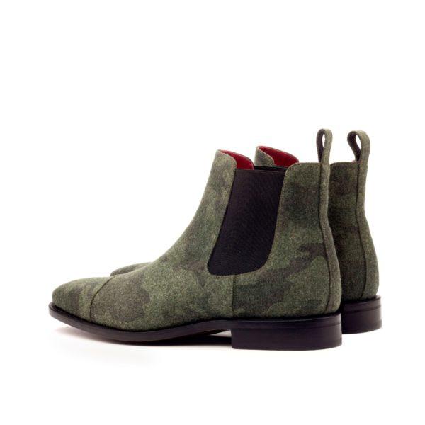 rear detail black elastics on camo Chelsea Boots BARACKS