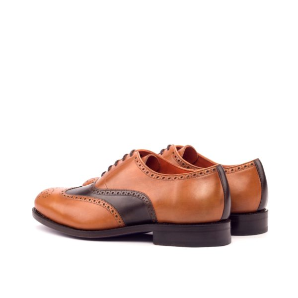 rear tan and brown leather detail on wingtip Brogue Shoes BITANDA