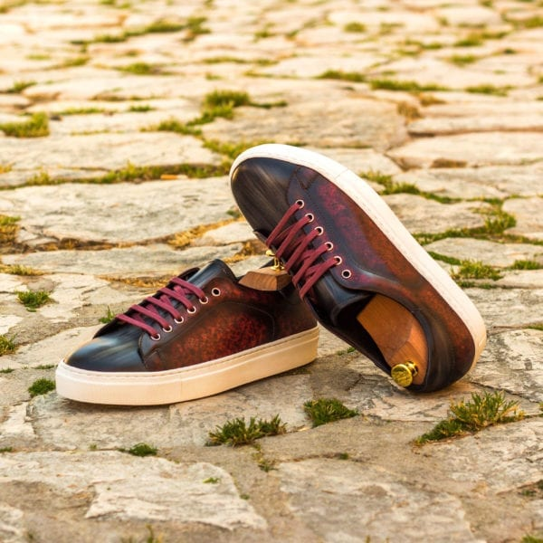 order custom made Patina leather Trainers for men RIVA