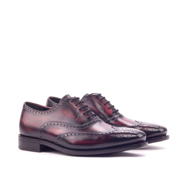 goodyear welted patina Brogues burgundy leather ASTORO