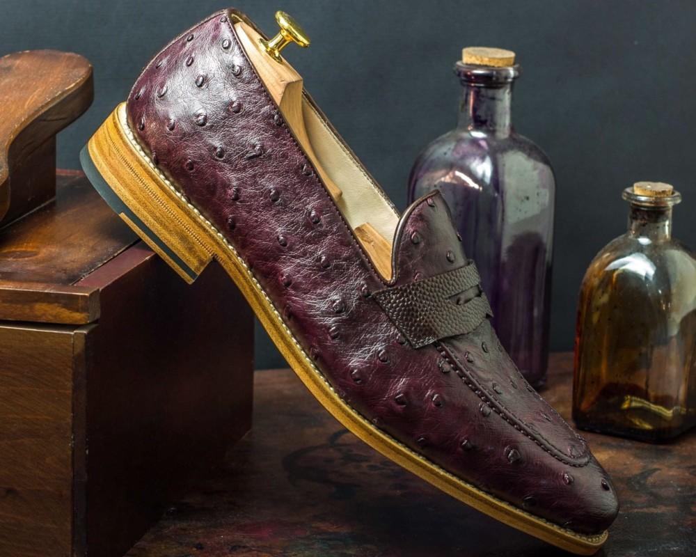 ostrich skin exotic Civardi shoes boots