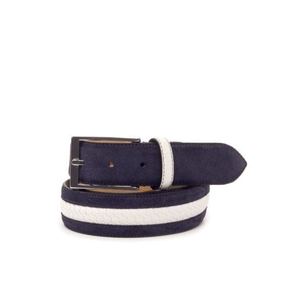 navy and white belt for men REGATTO