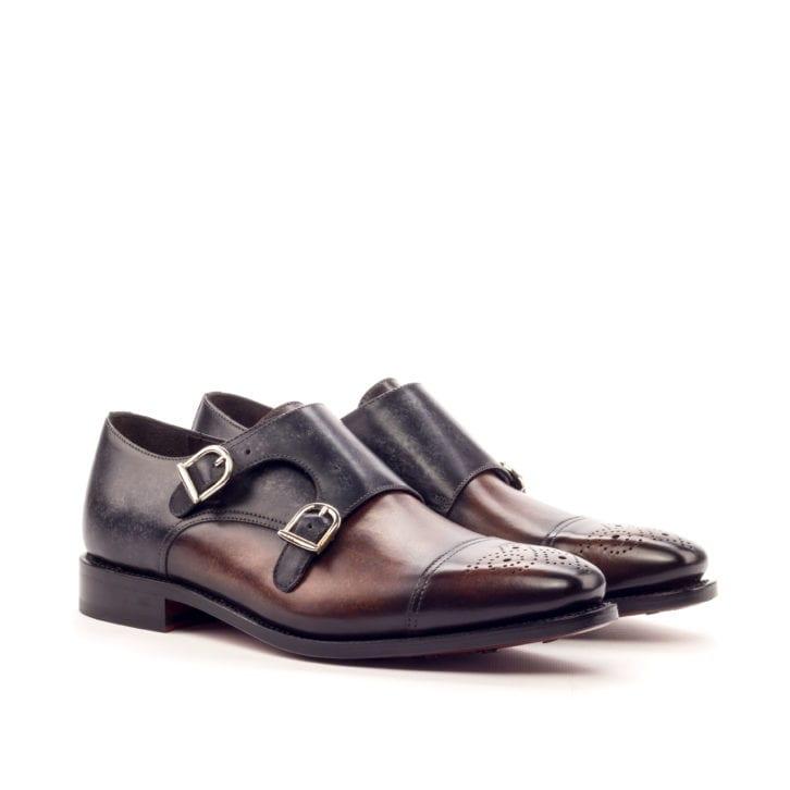 Patina Double Monk Shoes VALACHONI