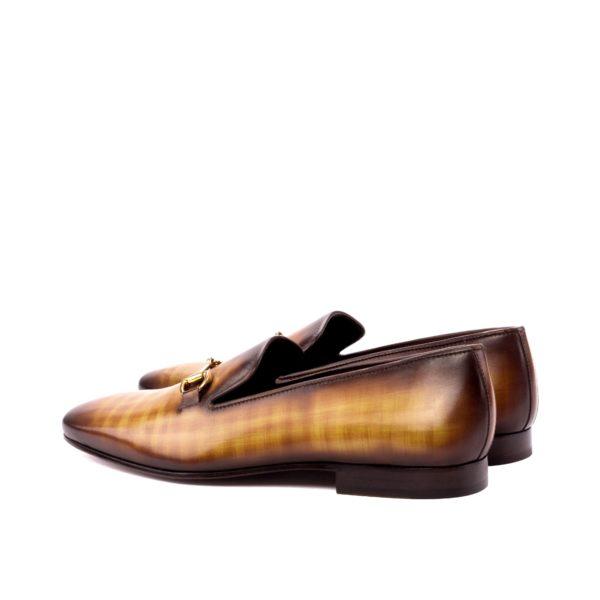 Drake Slipper SANDERSON patina leather rear