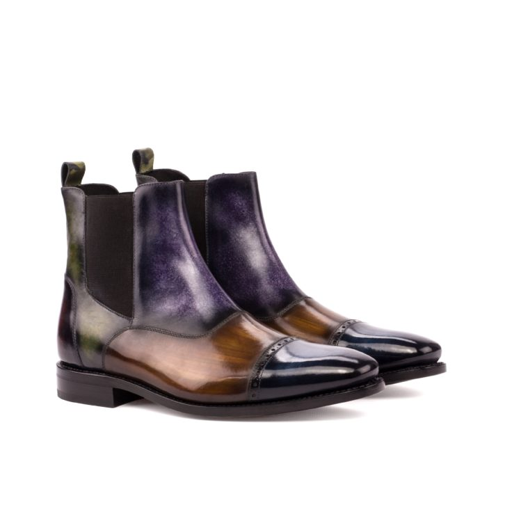 Patina Multi-Panel Chelsea Boots JOHNSON