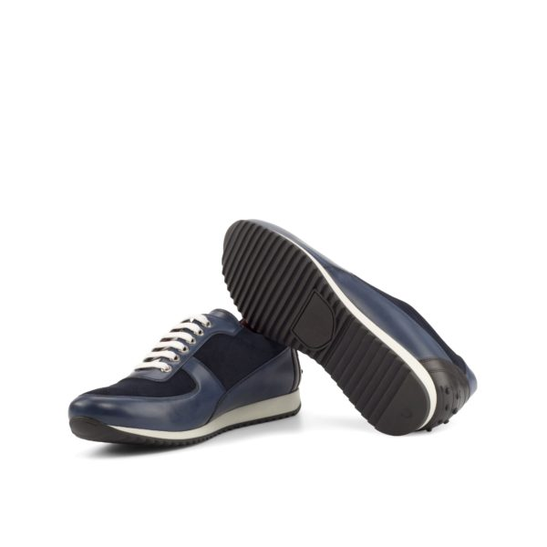 black and white rubber wwedge running style soles on stylish Trainers HUGO