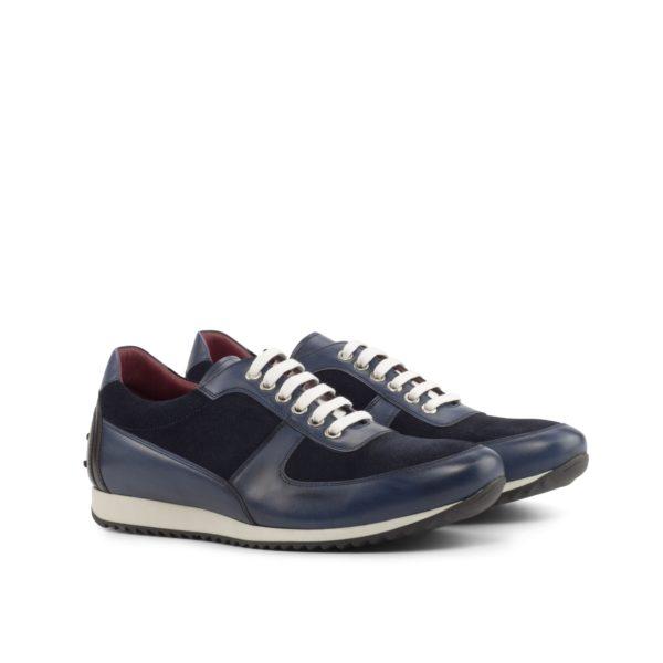stylish navy blue suede and leather corsini Trainers HUGO by Civardi