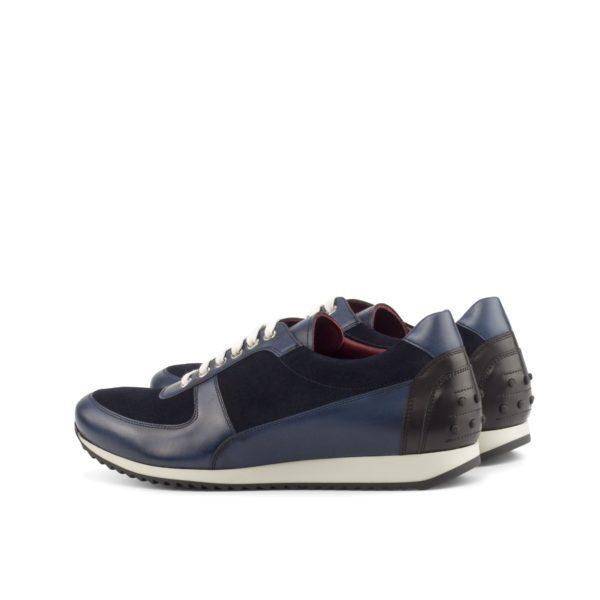 rear contrast black leather heel details on stylish Trainers HUGO