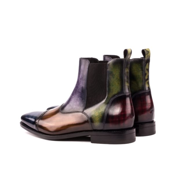 Multi Patina Leather Chelsea Boots JOHNSON rear