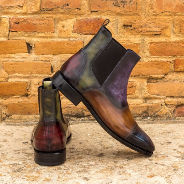 situ Chelsea Multi Patina Leather Boots JOHNSON
