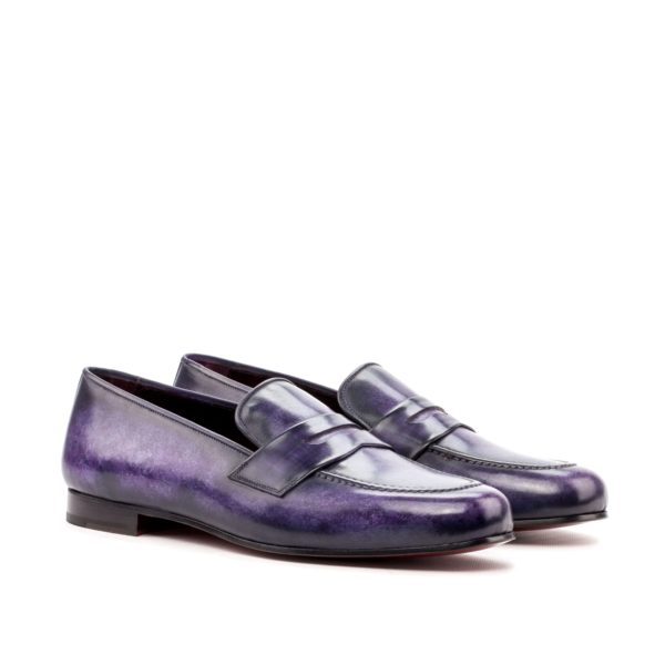 Purple patina leather Slippers RODGERS