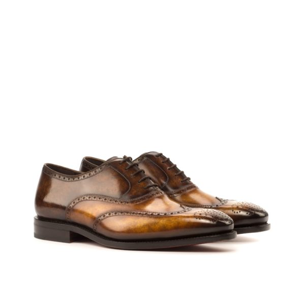 brown patina brogues ALFREDO marbled leather