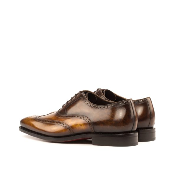 patina leather full brogues ALFREDO brown rear
