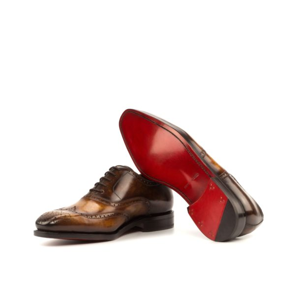 brown brogues ALFREDO red leather goodyear welt soles