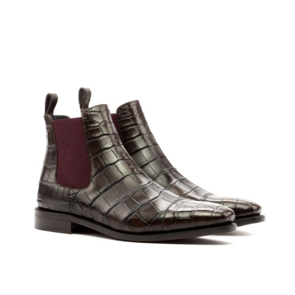 luxury alligator Chelsea Boots SNAPPER brown