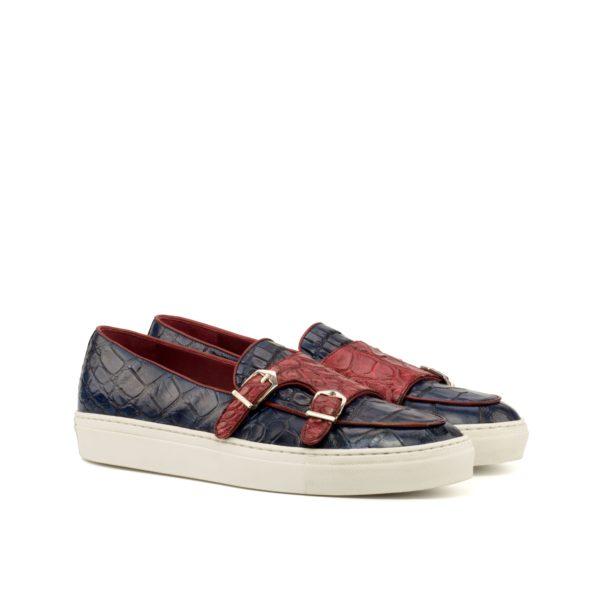 alligator sneakers Belgian Monk SNAPPS navy red