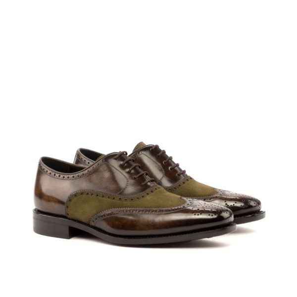 suede leather brogues ALPHONSO brown patina