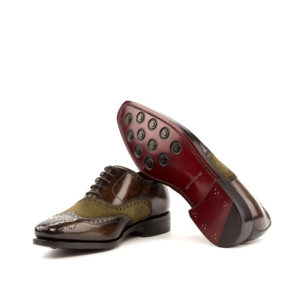 Full Brogues suede leather ALPHONSO goodyear leather rubber soles
