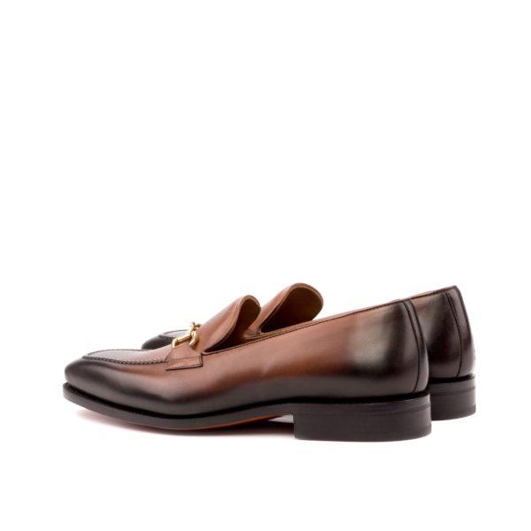 brown horsebit loafers ANDREW rear