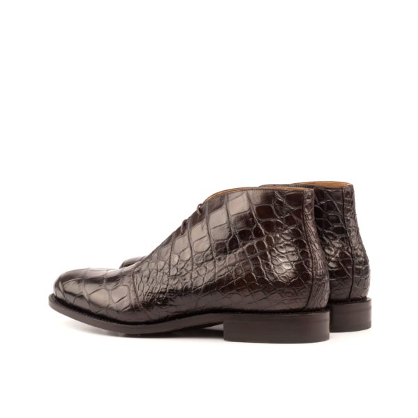 dark brown alligator skin Chukka Boot BITER rear