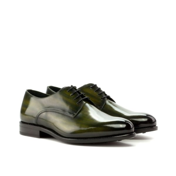 goodyear welted derbies BUSH green patina derby shoe