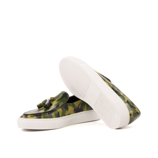 Camo pattern Sneaker VERTONGEN white rubber soles