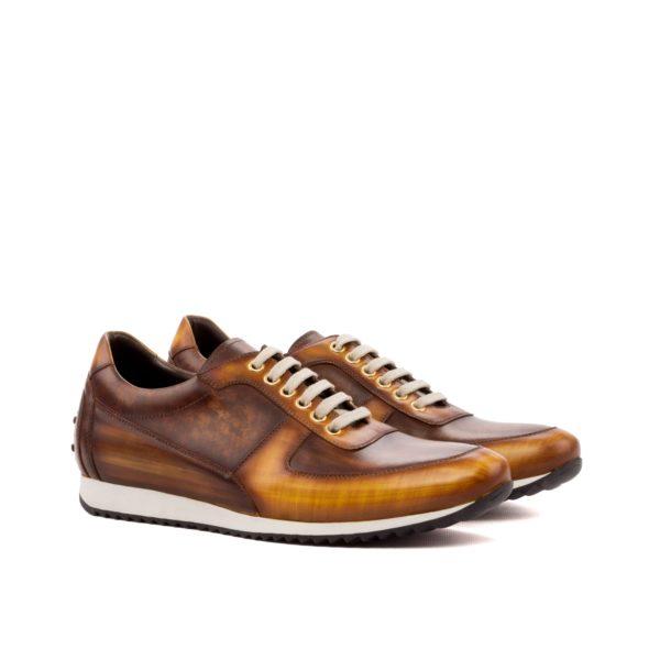 Corsini Trainer EDERSON brown patina luxury trainers