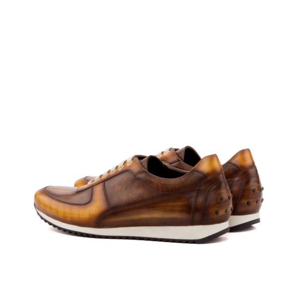 Corsini Brown Luxury Patina Leather Trainer EDERSON