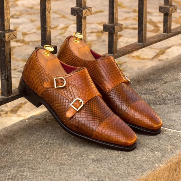 Double Monk python shoes SAHARA insitu