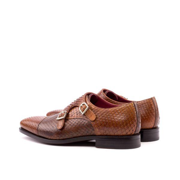 Double Monk SAHARA python shoes rear