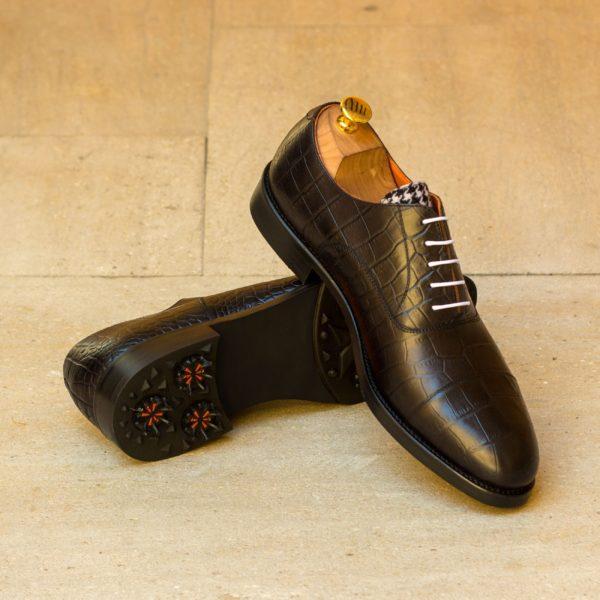 croc leather Oxford Golf shoes fancy tongue ELLS insitu