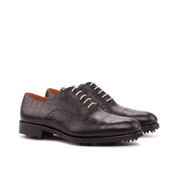Oxford Golf Shoes black croc leather ELLS