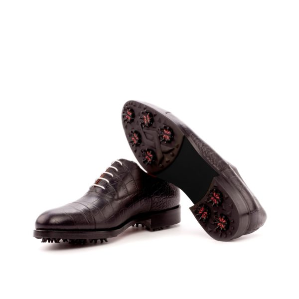 black Oxford Golf shoes ELLS golfing soles