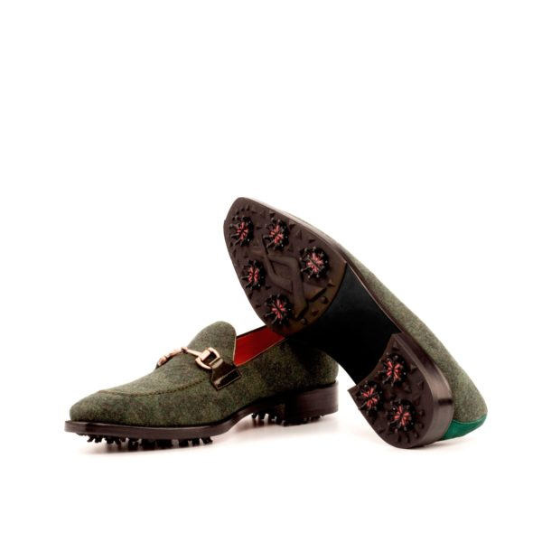 Golfing Loafers green camo pattern FOWLER soles