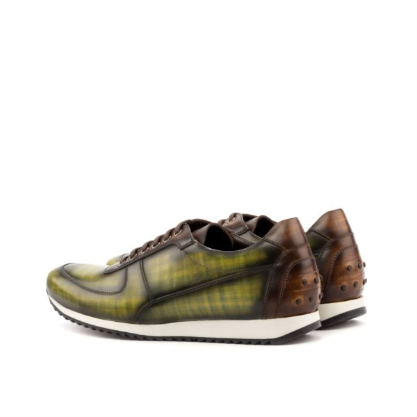 Unique Trainer JENNINGS luxury patina green brown rear