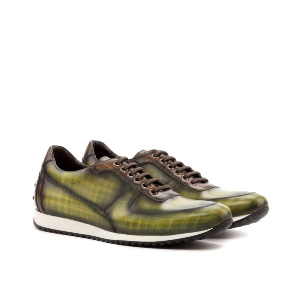 Unique Luxury Trainers JENNINGS corsini trainer green brown patina