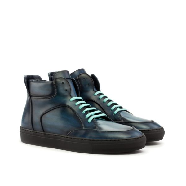 blue leather Hi Tops Multi Boot KIDD