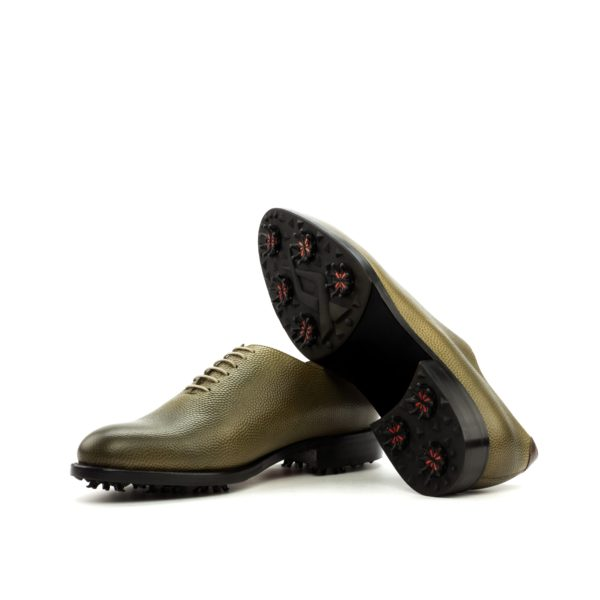 olive green Whole Cut Golf shoes KITE soles